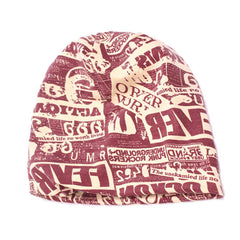 Mens Unisex Letter Cotton Beanie Skullies Hat Casual Soft Warm Knitted Hat - Slabiti