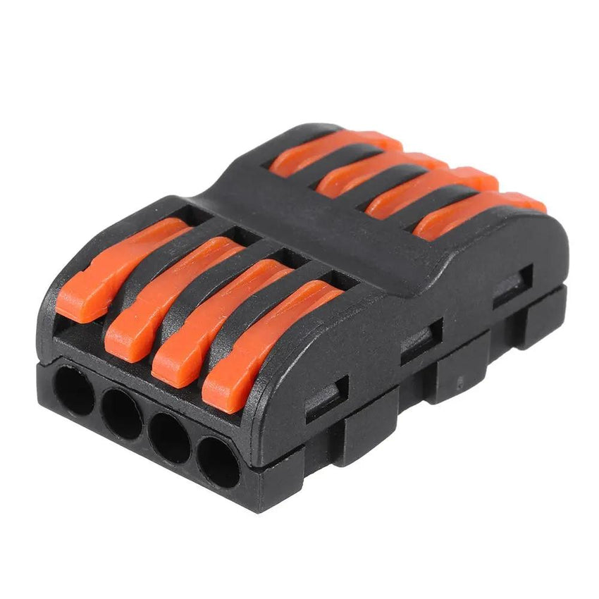 10Pcs SPL-4 CH4 Quick Terminals Wire Connector Push-on connector Rail Terminal Block - Slabiti