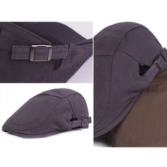 Men's Vintage Cotton Casual Adjustable Beret Hat Outdoor Sports Cap - Slabiti