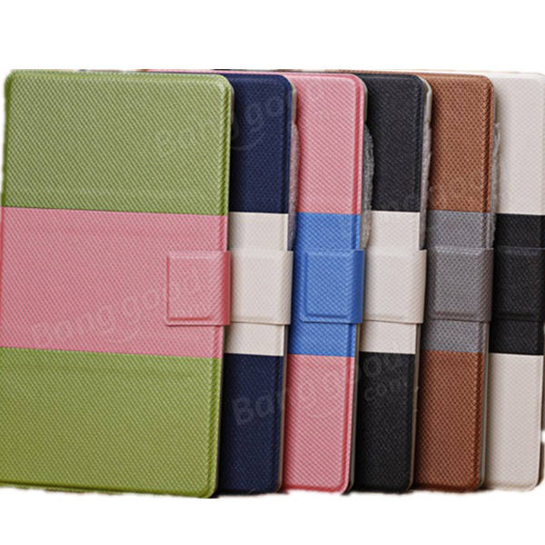 Contrast Color PU Leather Case With Card Holder For Google Nexus 7 2nd - Slabiti