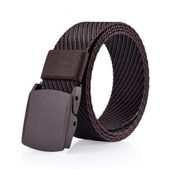 125CM Mens Nylon Resin Buckle Belt Outdoor Sport Military Tactical Durable Pants Strip - Slabiti