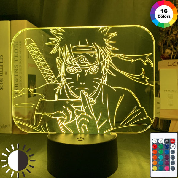 Acrylic 3d Illusion Night Lamp Naruto Uzumaki Poster for Home Decoration Nightlight Cool Birthday Gift Naruto Led Night Light - Slabiti