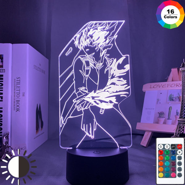 Acrylic 3d Lamp Anime My Hero Academia Shoto Todoroki for Bedroom Decor Nightlight Kids Fans Birthday Gift Manga Led Night Light - Slabiti