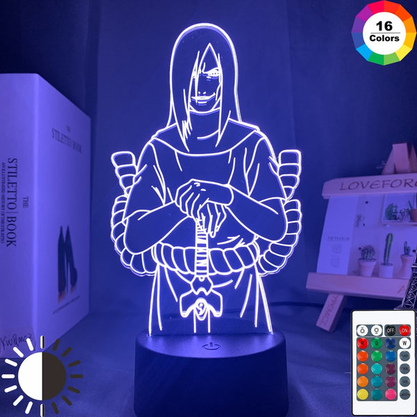 Acrylic 3d Lamp Naruto Orochimaru Figure Nightlight for Kids Bedroom Decor Cool Child Gift Room Desk Lamp Anime Led Night Light - Slabiti