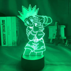 Acrylic Led Night Light Anime Hunter X Hunter Bedroom Decor Light for Kid Child Birthday Gift HXH Illumi Zoldyck Figure 3d Lamp - Slabiti