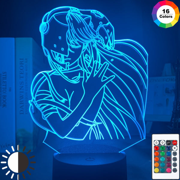 Acrylic Led Night Light Lamp Anime Elfen Lied Lucy Nyu Figure Desk 3d Lamp for Kids Child Room Decorative Nightlight Manga Gift - Slabiti
