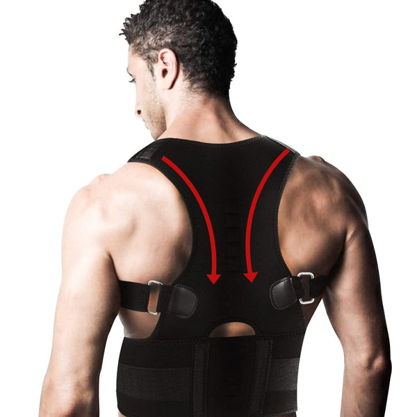 Adjustable Back Posture Corrector Magnetic Therapy Posture Corrector Brace Shoulder Back  Brace Support Belt - Slabiti