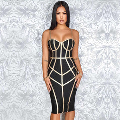 Adyce 2019 New Summer Bodycon Bandage Dress Women Vestido Sexy Spaghetti Strap Sleeveless Club Hot Celebrity Evening Party Dress - Slabiti