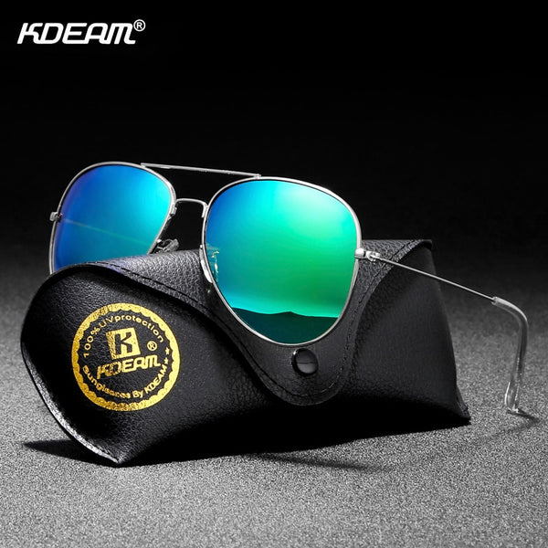 Air Force Pilot Sunglasses Men Polarized 62' Lens Large Sun Glasses Polaroid UVA/UVB Sunglass de sol With Case - Slabiti