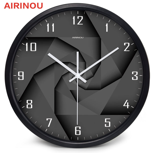 Airinou 3D Vortex Style Modern  Glass And Metal Wall Clock  Library Science Museum Or Company - Slabiti