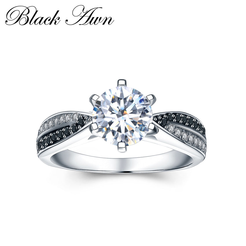 Anillos Mujer Classic 925 Sterling Silver Fine Jewelry Trendy Engagement Bague Femme Rings for Women Wedding Rings Bijoux C031 - Slabiti