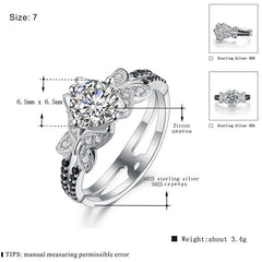 Anillos Mujer Neo-Gothic 925 Sterling Silver Jewelry Trendy Wedding Rings for Women Engagement Ring Bague Femme Bijoux C127 - Slabiti