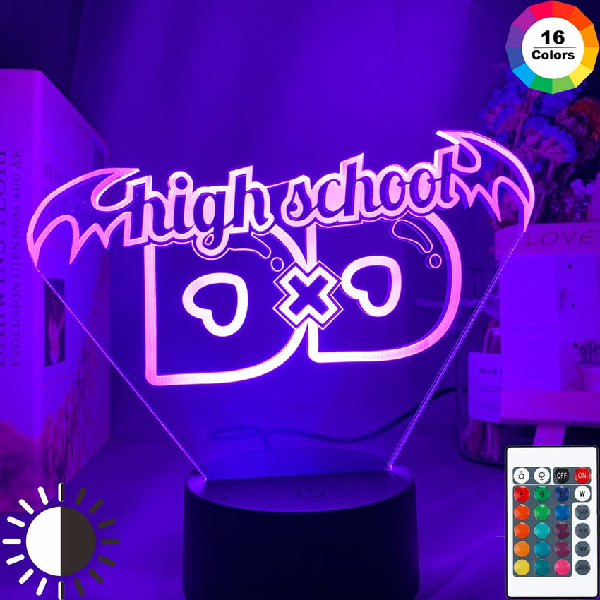 Anime High School DxD Led Night Light for Dorm Decoration Atmosphere Color Changing Led Gift Bedroom Table Lamp Highschool DxD - Slabiti