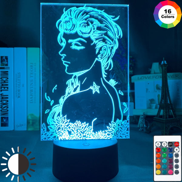 Anime JoJo's Bizarre Adventure Art Gadget Led Night Light Touch Sensor Colorful Nightlight for Home Decor Jojo Figure 3d Lamp - Slabiti