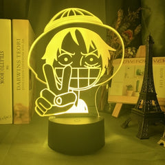 Anime ONE PIECE Monkey D Luffy Figure Kids Night Light Led Color Changing Atmosphere for Child Bedroom Bedside Decor Desk Lamp - Slabiti