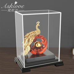 Asklove Gold Phoenix Ornament 3D Phoenix Statue 24K Gold Foil Decoration Miniature Figurines Desktop Crafts Home Decor Gifts - Slabiti