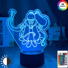 Assassination Classroom Korosensei Figure Kid Night Light for Bedroom Decor Light Anime Gift for Child Table 3d Lamp Koro Sensei - Slabiti