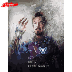 Avengers Endgame I am Iron ManFrameless Picture Acrylic Paint By Numbers DIY Painting By Numbers Unique Gift Oil Painting - Slabiti