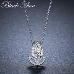 BLACK AWN 2019 New 925 Sterling Silver Jewelry Tulip Flower Elegant Necklaces Pendants Party Gift Bijoux K023 - Slabiti