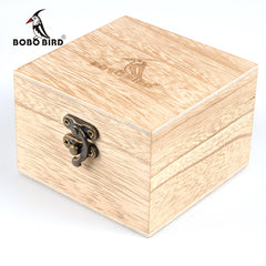 BOBO BIRD Square Wooden Boxes for Watches as gift box - Slabiti