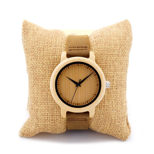 BOBO BIRD Timepieces Bamboo Couples Watches Lovers Handmade Natural Wood Luxury Wristwatches Ideal Gifts Items OEM Drop Shipping - Slabiti