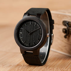 BOBO BIRD WC27 Men's Design Brand Luxury Wooden Bamboo Watches With Real Leather Quartz Watch in Gift Box accept OEM Customize - Slabiti