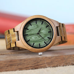 BOBO BIRD WG19 Men Luxury Brand Green Sandal Wood Watches Full Wooden Quartz Watch Handmade Wristwatches Carton Box OEM relogio - Slabiti