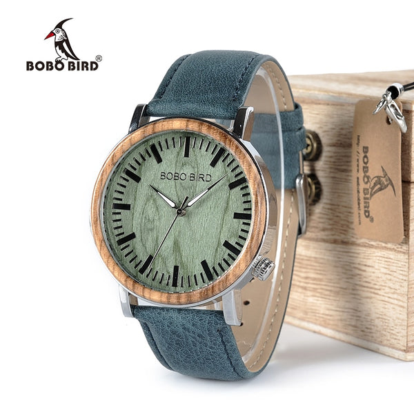 BOBO BIRD Watch Men Wooden Metal Quartz Watches Special Design Men's Wristwatches in Wooden Box Timepieces relogio masculino - Slabiti