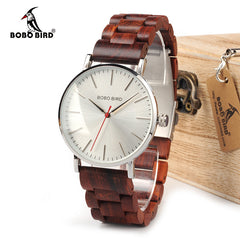 BOBO BIRD Watch Men relogio masculino Wooden Band Watches Man Simplify Quartz Timepieces bayan kol saati OEM Drop Shipping - Slabiti