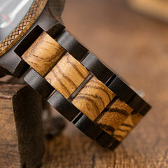 BOBO BIRD Wood Handmade Watch Men Relogio Masculino Japan Movement Quartz Watches Engraved Great Gift for Male erkek kol saati - Slabiti