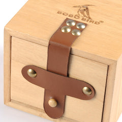 BOBO BIRD Wooden Drawer Boxes with Leather Buckle for Watch - Slabiti