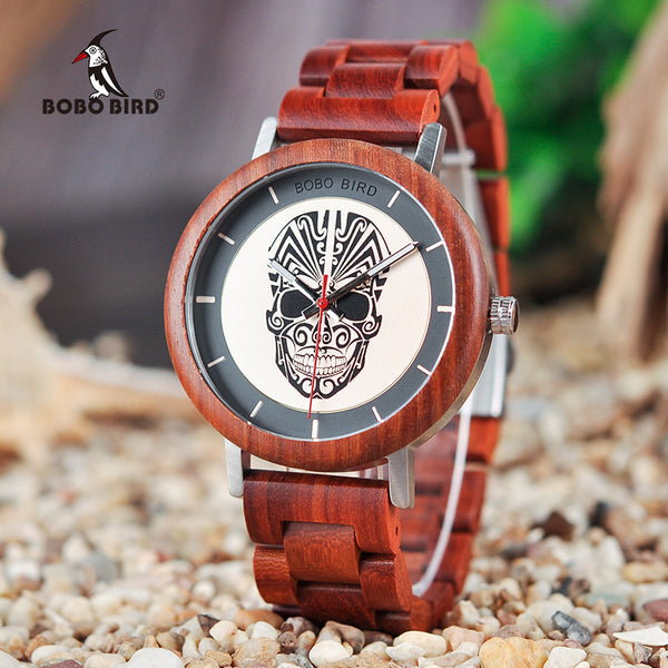 BOBO BIRD Wooden Timepieces Men Watches Fashion Wood New Design Quartz Wristwatch Accept LOGO DROP SHIPPING - Slabiti