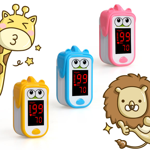 Baby  Finger Pulse Oximeter Neonatal Children kids fingertip Pulsioximetro Pediatric Oximetro De Dedo SpO2 PR Monitor 1-14 years - Slabiti
