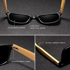 Bamboo Sunglasses Men and Women All In KINGSEVEN DESIGN Sun Glasses Polarized Vintage Travel Eyewear Mirror Lenses - Slabiti