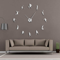Basketball Players DIY Large Wall Clock Basketball Slam Dunk Kid Room Wall Decor Giant Wall Clock Basketball Wall Watch Gifts - Slabiti