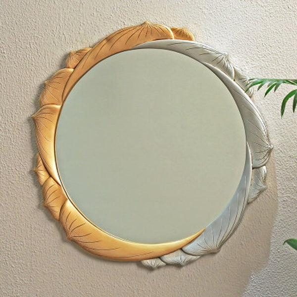 Bathroom mirror round wall hanging bedroom dressing vanity wall stickers makeup creative art decoration wx7181634