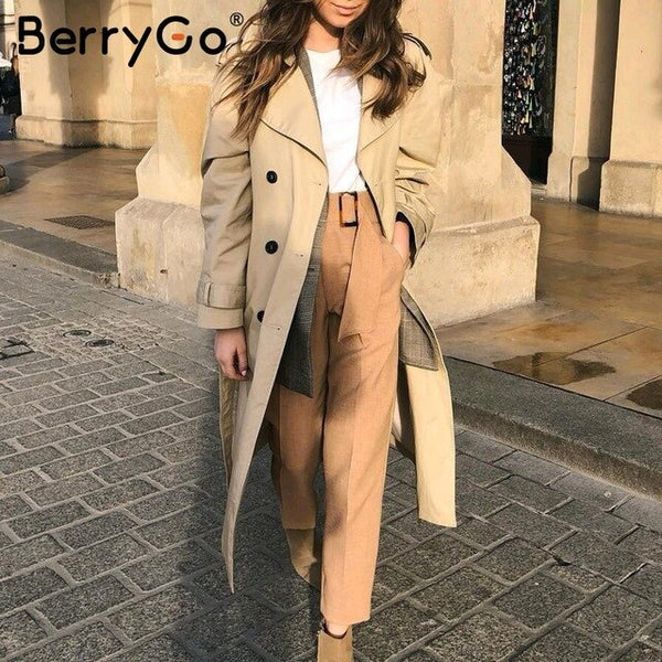 BerryGo Elegant sash belt women pants Mid waist casual female harem pants Harajuku fitness office ladies trousers pencil pants