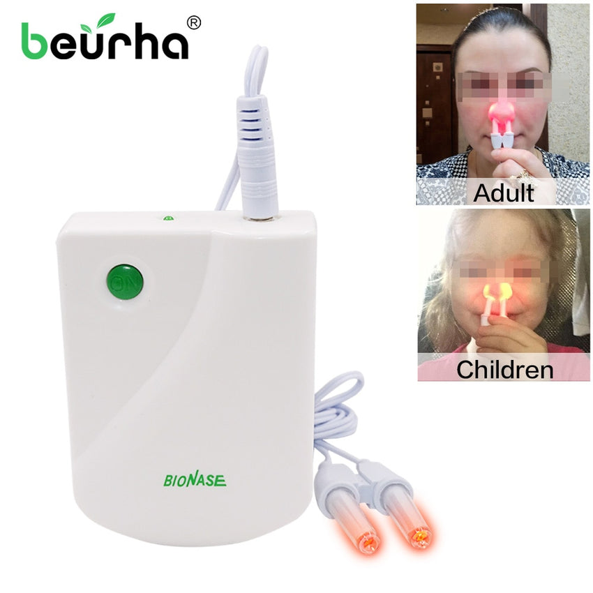 Beurha  BioNase Health Care Rhinitis Sinusitis Nose Therapy Massage Cure Hay Fever Low Frequency Pulse Laser Therapentic Masseu - Slabiti