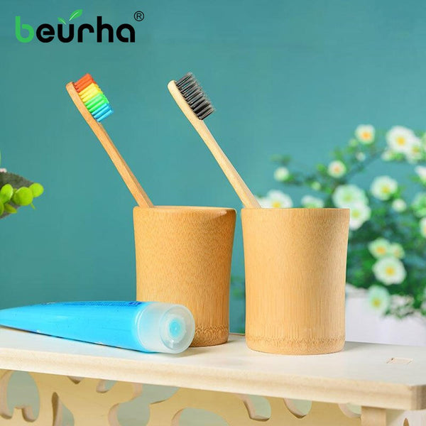 Beurha Toothbrush Antibacterial eco-friendly Natural Bamboo Handle Soft Bristles Bamboo Toothbrush Eco-friendly Oral Care - Slabiti