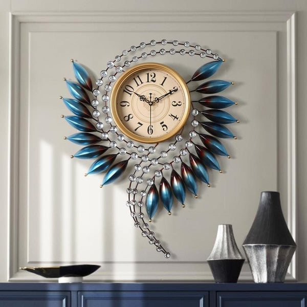 Big 3d Wall Clock Modern Design Large Wall Watch  Metal часы настенные Wall Ornament For Home  Living Room Bedroom Wall Decor - Slabiti