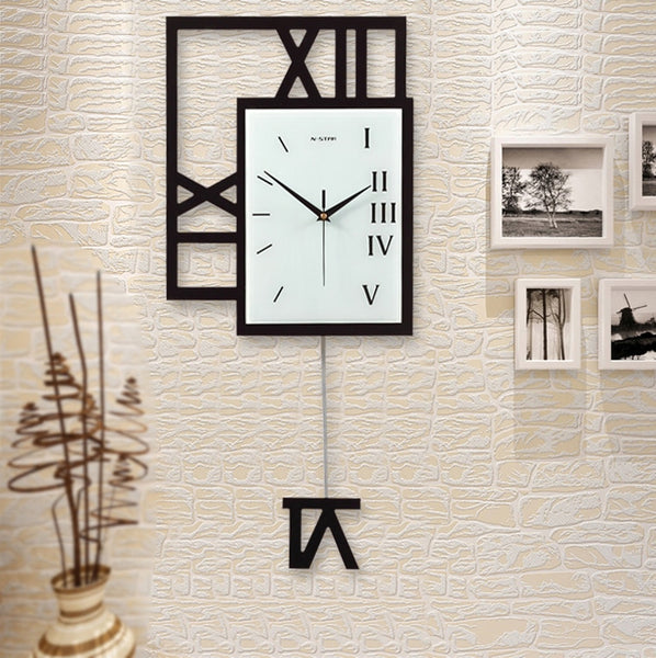 Big Size Swing Pocket Watch Home Living Room Large Wall Clock Study Room Fashion Decoration Wall Clock - Slabiti