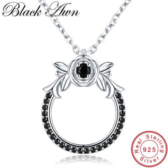 Black Awn 2019 New Classic Arrive 925 Sterling Silver Fine Jewelry Trendy Flower Engagement necklaces & pendants for Women KK026 - Slabiti