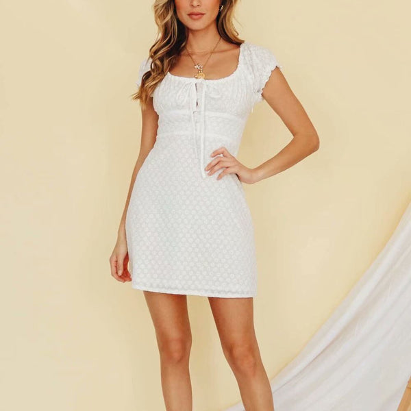 Boho Dress Women Fashion Vintage Dress Ladies White Sexy Dress Bohemian Elegant Dress Femme LF19dr4315 - Slabiti