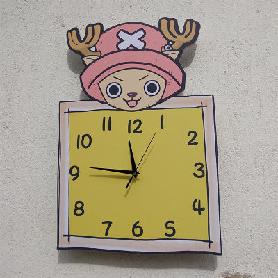 Boy room children's room decoration ultra-quiet quartz clocks living room wall clock - Slabiti