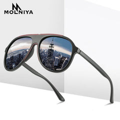 Brand 2020 Men's Glasses Driving Polarized Sunglasses Men Women TR90 Frame Fashion Eyewear Gafas De Sol Shades TAC Lens - Slabiti