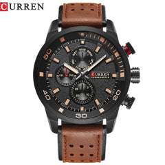 CURREN 2018 New Luxury Fashion Analog Military Sports Watches High Quality Leather Strap Quartz Wristwatch Montre Homme Relojes - Slabiti