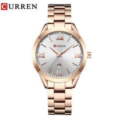 CURREN 9007 Top Luxury Brand Women Quartz Watch Ladies Wristwatches Relogio Feminino Rose Gold Female Bracelet Watches - Slabiti