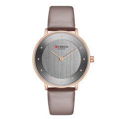 CURREN 9033 Red Watches For Women Ladies Dress Quartz Genuine Leather Wrist Watch Simple Classic Female Clock bayan kol saati - Slabiti