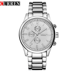CURREN Classic Fashion Quartz Men Watches Full Steel Sports Wrist Watch Waterproof Male Clock Relogio Masculino Reloj Hombre - Slabiti