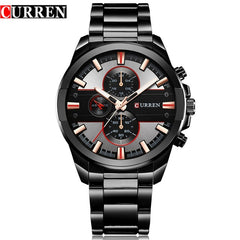 CURREN Classic Stainless Steel Strap Watches Men Military Analog Quartz Wristwatch For Mens Clock Casual Male Watch erkek saati - Slabiti